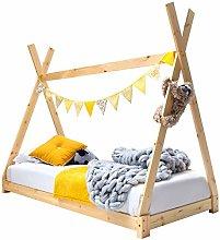 Sleep Design Kids Wooden Solid Pine Tipi Tent