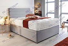Sleep Factory's Grey Pearl 2 Drawer Divan Bed