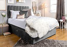 Sleep Factory's Luxury Grey Velveto Divan Bed