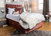 Sleep Factory's Rose Pink Velveto Divan Bed