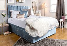 Sleep Factory's Sky Blue Velveto Divan Bed Set