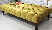 Sleep Tight Chesterfield Mustard Large Footstool