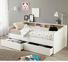 Sleep White Wooden Day Bed Frame - EU Single