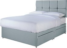 Sleepeezee 2000 Hybrid Double 4 Drawer Divan - Blue