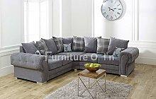sleepkings Corner Sofa Verona - Large Corner - Grey