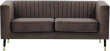 Slender 2 Seater Sofa-Velluto 17