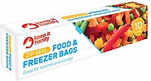 Slide Lock Food & Freezer Bags Large Size x 10  