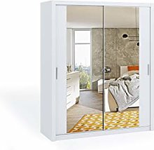 Sliding Door Wardrobe with Mirrors Bedroom Space