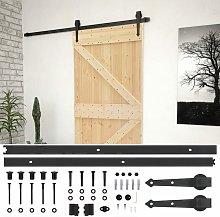 Sliding Door with Hardware Set 100x210 cm Solid