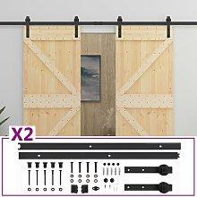 Sliding Door with Hardware Set 90x210 cm Solid