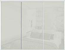 Sliding Doors and track W2216 White Frame Arctic