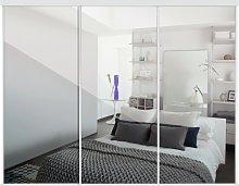 Sliding Doors and track W2672 White Frame Mirror