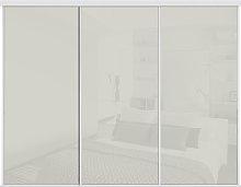 Sliding Doors and Track W2692 White Frame Arctic
