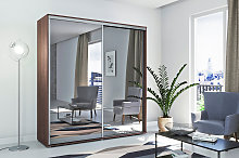 Sliding Doors Wardrobe Brown Mirrored A1 200cm