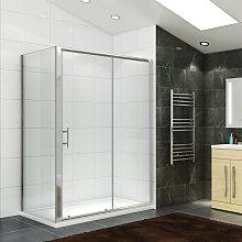 Sliding Shower Enclosure 1100 x 800 mm Reversible