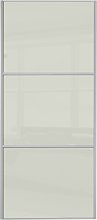 Sliding Wardrobe Door W762mm 3 Panel Arctic White