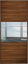 Sliding Wardrobe Door W762mm 3 Panel Walnut &