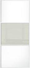 Sliding Wardrobe Door W762mm 3 Panel White /Arctic