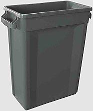 Slim Bin Recycling Container, Rectangular, Plastic