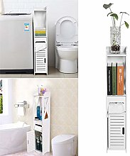 Slim Tall Bathroom Storage Cabinet Unit, Bathroom