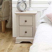 Slim Taupe-Grey Bedside Table - Davenport Grey