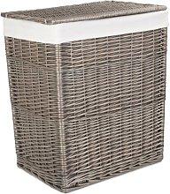 Slim Wicker Laundry Bin August Grove