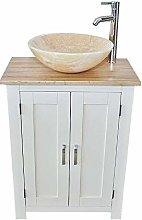 Slimline Bathroom Cabinet Vanity Unit | Oak Top