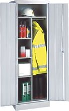 Slimline Cupboard With 3 Half Shelves, Yellow,