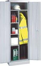 Slimline Cupboard With 3 Half Shelves, Yellow