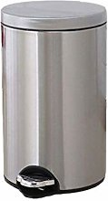 SLINGDA Wastebasket with Cover Stainless Steel
