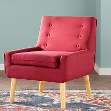 Slipper Chair Wrought Studio Upholstery: Red