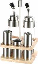 Sliveal Salt and Pepper Shaker, Oil and Vinegar