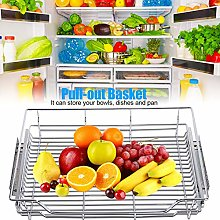 Sliver Reusable Sturdy Kitchen Pull-Out Basket for