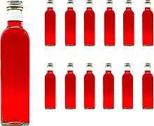 slkfactory 12 empty glass bottles, 250 ml MAR