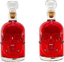slkfactory 2Empty Glass Bottles 500ml Bottle
