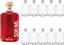 slkfactory 3, 4, 6 or 10 x 500 ml Empty Glass
