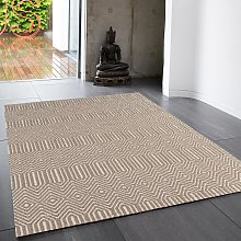 Sloan Taupe Geometric Rug by Asiatic