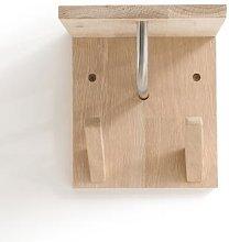 Slofia Light Oak Mini Coat Rack with Shelf by La