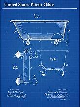 Sloman Bath Tub 1905 Vintage Bathroom Patent Plan