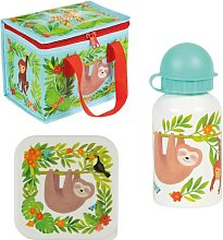 Sloth and Friends Jungle Lunch Bag Set Sass and