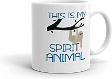 Sloth Spirit Animal Mug Funny Him Her