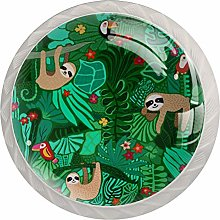 Sloth Tropical Green Kitchen Cabinet Knobs Knobs