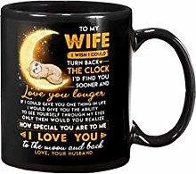Sloth Wife Clock Ability Moon Mug- 11OZ Coffee Mug