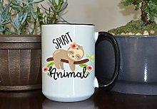 Sloths are My Spirit Animal Coffee Mug, Cute Sloth