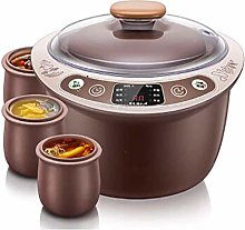 Slow Cooker 2.5L Household Healthy Purple Clay