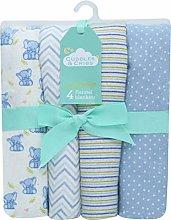 Slumber Nights Baby Receiving Blankets Cotton