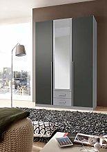 SlumberHaus 3 Door Wardrobe With Drawers Mirror