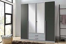 SlumberHaus 4 Door Wardrobe With Drawers Mirror