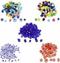 SM SunniMix 140g Millefiori Glass Beads Irregular