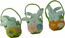 SM SunniMix 3 Pieces Easter Bunny Basket Rabbit